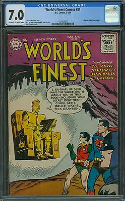 World's Finest Comics 81 CGC 7.0 - OW/W Pages