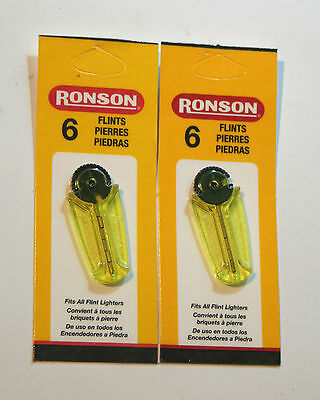 12 Ronson Lighter Flints - Compatible With All Flint Lighters - Zippo / Ronson