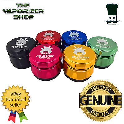 Head Chef Samurai Top Quality Alluminium Magnetic Grinder 55mm 4 Pcs All Colours