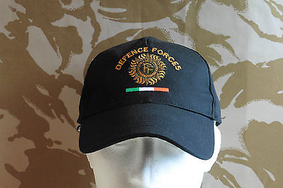 "Irish Defence Forces Baseball Cap ""Colour Black"" Irish Military New Cap With Tag"