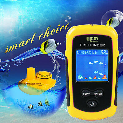 Portable Sonar Sensor Color LCD Fish Finder Alarm Fishfinder Transducer OS846