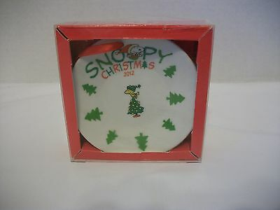 """Snoopy Christmas Hanging Decorative Plate 2012 """"just For You"""" Mega Toys"""