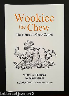 James Hance *SIGNED* Wookie Winnie-the-pooh STAR WARS 7 Print Set With Book!