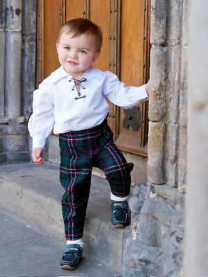 New baby boy tartan trews made to order 0-6 6-12, 12-18 -24 months trousers