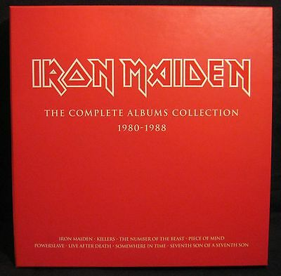 "Iron Maiden - The Complete Albums Collection. Ltd Ed 8 x 12"" Vinyl Box Set NM"