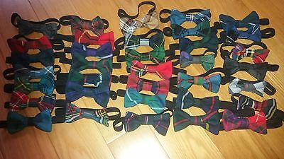 New tartan bow tie for baby or toddler boy red blue green purple handmade