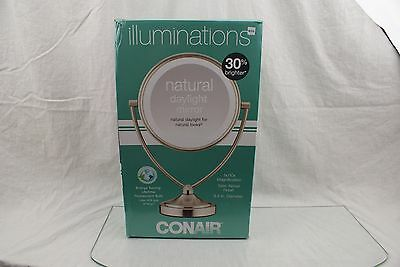 Conair Natural Daytime Lighted Round Mirror; 1x/10x Magnification *OPEN BOX* WX6