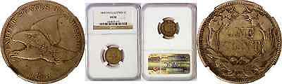 1858 Flying Eagle Cent Small Letters NGC VF 20