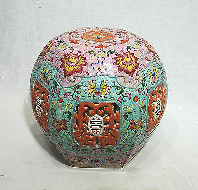 Chinese  Famille  Rose  Porcelain  Seat