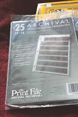 3 Packs Of 35Mm Negative Pages