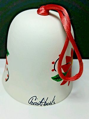 Vintage Christi Bell Red Poinsetta Hand Signed, Excellent Condition