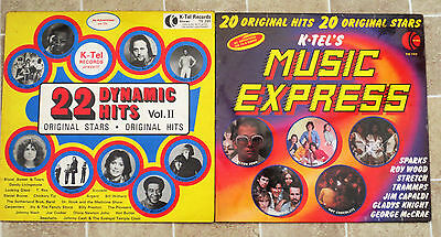 2 vinyl LP's 22 dynamic hits and Music express of the 70's