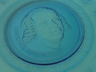 vintage WHEATON MADISON PRESIDENTIAL PLATE 8 inch blue
