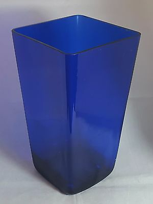 Beautiful Large Cobalt Blue Glass Vase (Height - 25 cm)