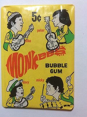 1967 Donruss The Monkees 3rd Series 3 Sealed Unopened Wax Pack