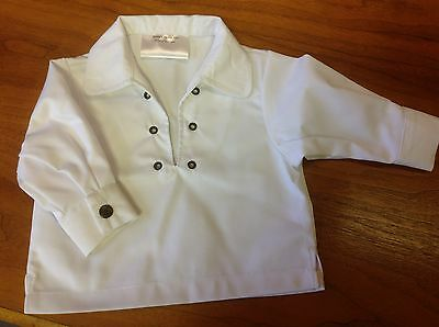 NEW kilt Ghillie jacobean shirt white with lace baby 0-6, 6-12, 12-24 months