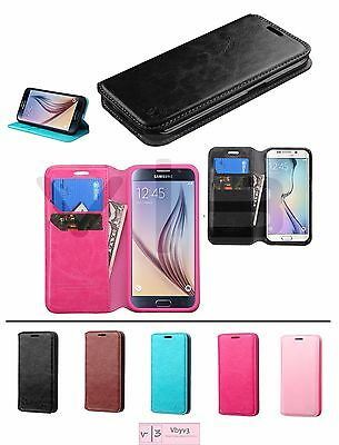 For Samsung GALAXY S6 / Edge / Plus + Leather Flip Wallet Case Phone Cover Stand