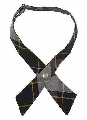 French Toast Girls Cross Ties Gold/Blue Plaid