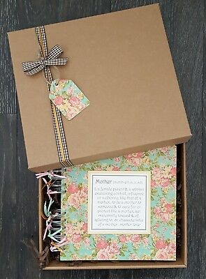 "Mum Scrapbook, Gift for Mum, Mothers Day Gift, 8"" x 8"" boxed memory book"