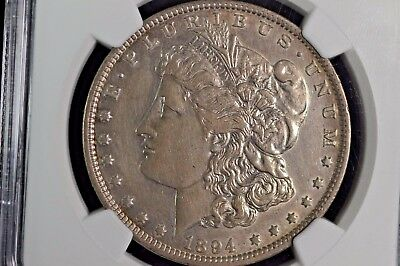 1894-P S$1 Au Details Ngc Morgan Silver Dollar - Improperly Cleaned