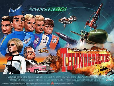 "Thunderbirds are Go 1966 16"" x 12"" Reproduction Movie Poster Photograph 3"