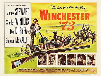 """Winchester 73  16"""" x 12"""" Reproduction Movie Poster Photograph"""