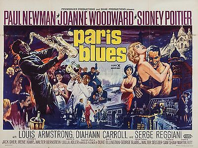 "Paris Blues 16"" x 12"" Reproduction Movie Poster Photograph"