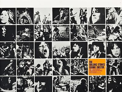"""GIMME SHELTER ROLLING STONES 1970 16"""" x 12"""" Reproduction Movie Poster Photograph"""