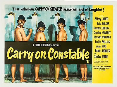 """Carry on Constable 1960 16"""" x 12"""" Reproduction Movie Poster Photograph 2"""