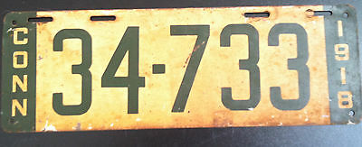 1918 Connecticut License Plate