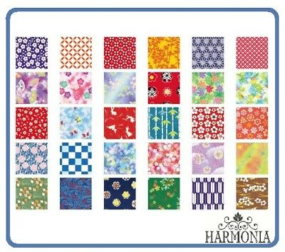 Japanese Origami Paper WASHI CHIYOGAMI  7.5 cm x 7.5 cm 30 sheets 30 designs