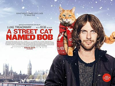 """A Street cat named Bob 16"""" x 12"""" Reproduction Movie Poster Photograph"""