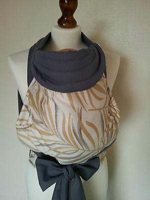 Mei Tai Baby Carrier / Sling / Reversible /palmera With Grey/handmade/made In Uk