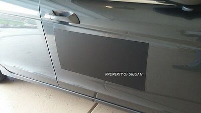 "24""x12"" Blank BLACK VINYL Car Magnet Sign 30 mil thick - MACHINE CUT (1 SHEET)."