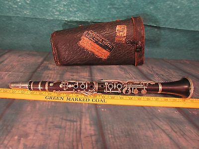 Antique Clarinet Paris Made in France Project as is with case Wonderful