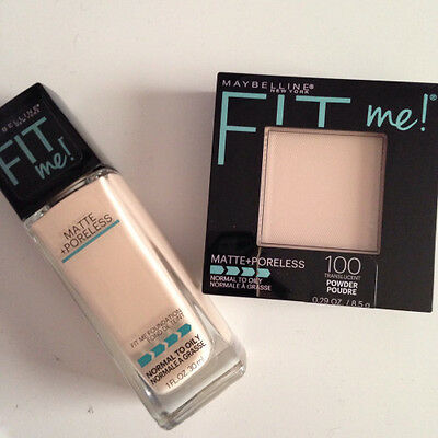 Maybelline Fit Me Matte & Poreless Foundation Or Pressed Powder New & Sealed