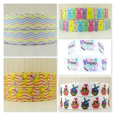 Grosgrain Ribbon - 1 Inch - 25 mm - Print by the Metre - Easter