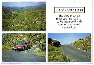 Postcard Lake District Hardknott Pass un posted  PP466 Pedley