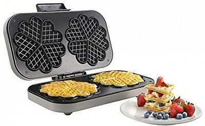VonShef Double Waffle Maker 1300W Non-Stick With Thermostat Control