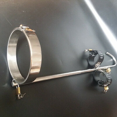Unisex Stainless steel Collar Restraint with Hook