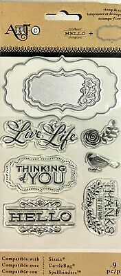 Art-C Clear Stamp And Die Set ~Live Life Code 24665