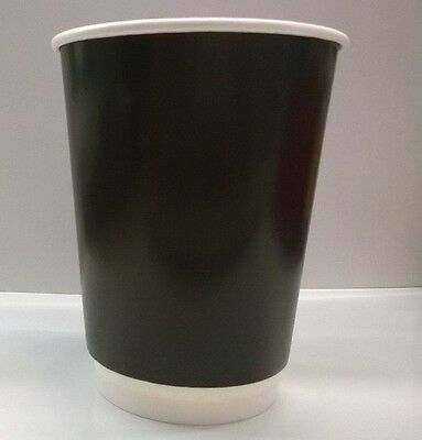 500 pcs Disposable Paper Coffee Cups  12 oz Double Wall Australian made