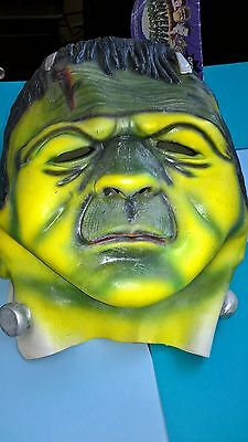 Universal Monsters Frankenstein Mask Halloween Adult Large XL Scary Latex Mask