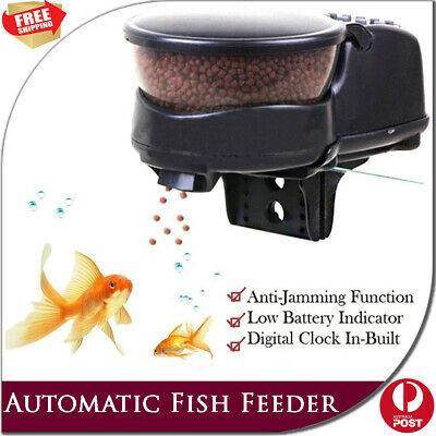 Automatic Digital Fish Feeder Aquarium Food Dispenser Pellet Tank Portion Timer