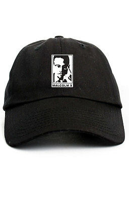 8e580fd6b1310 MALCOLM X BY Any Means Custom Unstructured Baseball Dad Hat Cap New ...