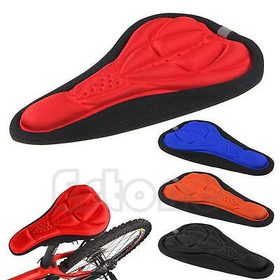 3D Pad Gel Silicone Cycling Bicycle Bike Saddle EBA Cushion Soft Pad Seat Cover