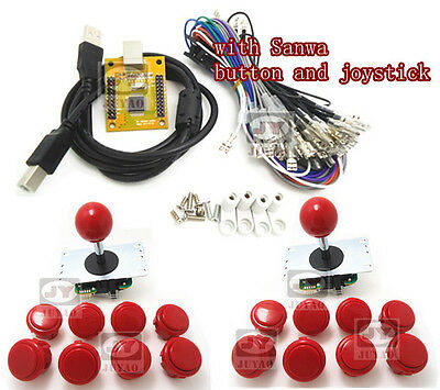 1 kit for Arcade to USB controller 2 player with sanwa joystick and button