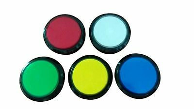 2 pcs of flat 100mm lighted button Illuminated Push Button with microswitch
