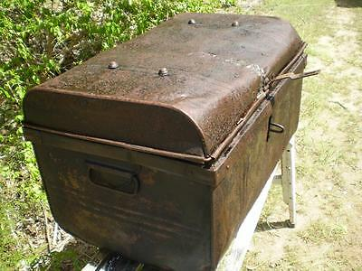 Collectable metal Ships Trunk  1960s style chest storage Trunk rustic Vintage