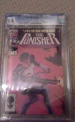 Punisher limited #5 Mike Zeck cover cgc 9.4 white pages